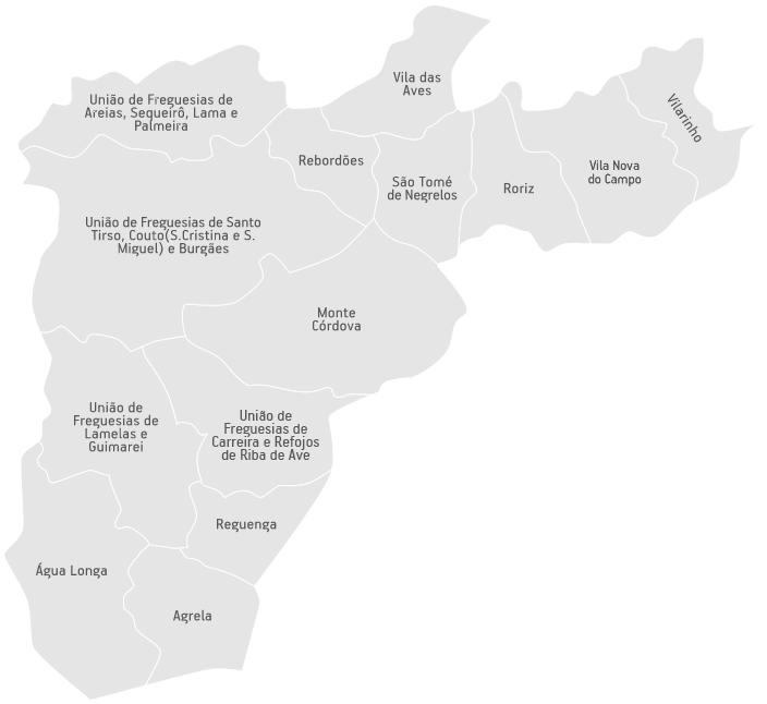 mapa s tirso Freguesias | C.M. Santo Tirso mapa s tirso